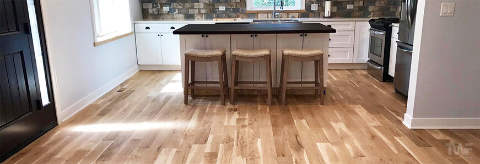 Hardwood floor in kitchen Naperville Illinois