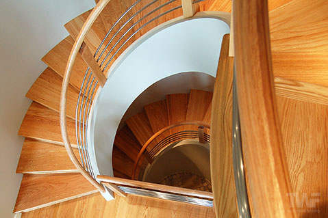 Red Oak Hardwood Floors and Staircase