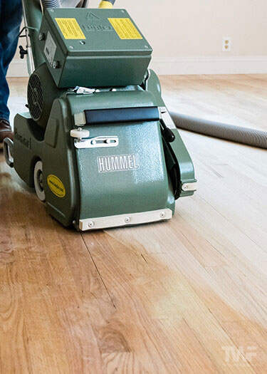 Removing existing finish from hardwood floor