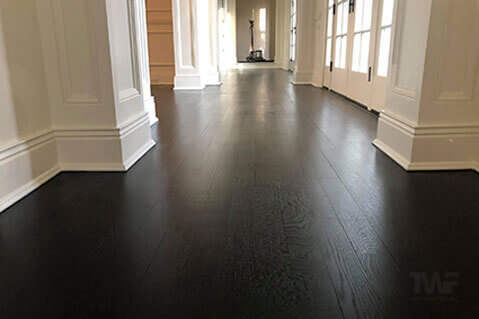 Winnetka Illinois Black Rubio Monocoat Floor