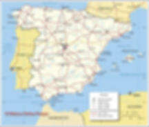 This is a map of Spain
