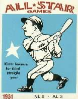Ralph Kiner 1951 All-Star Card