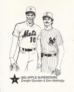 1986 Big Apple Mets & Yankees (#1 Gooden & Mattingly)