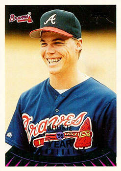 1995 Topps Traded Baseball Card (#128T Chipper Jones)