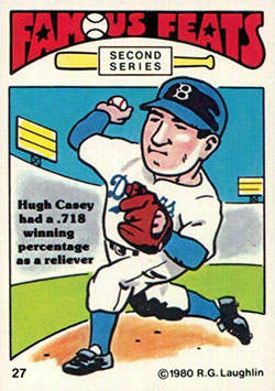 Hugh Casey Baseball Card