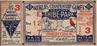 1931 World Series Game 3 Ticket Stub