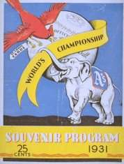 1931 World Series Program
