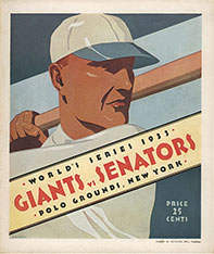 1933 World Series Program, New York Giants Version