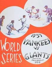 1937 World Series Program