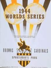 1944 World Series Program : St. Louis Browns Version