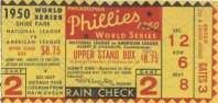 1950 World Series Game 2 Ticket