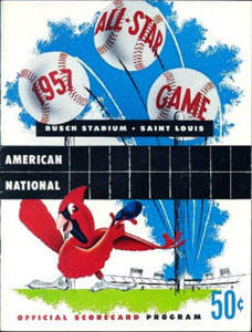 1957 All-Star Game Official Program