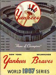 1957 World Series Program, New York Yankees Version