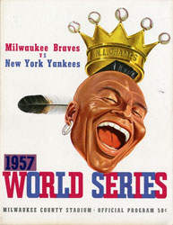 1957 World Series Program, Milwaukee Braves Version