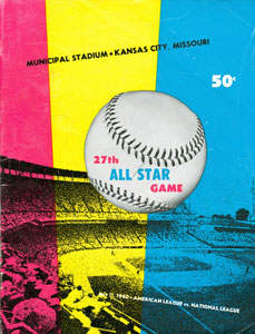 1960 All Star Game 1 Program