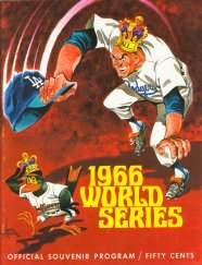 1966 World Series Program Los Angeles Dodgers Version