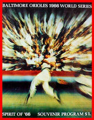 1966 World Series Program Baltimore Orioles Version