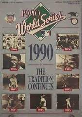 1990 World Series Program