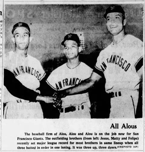 Alou Brothers Outfield