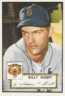 Billy Hoeft Rookie Baseball Card