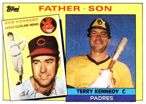 Bob and Terry Kennedy Baseball Card