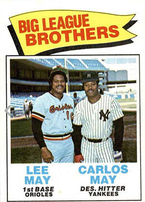 Carlos May and Lee May MLB Brothers Baseball Card