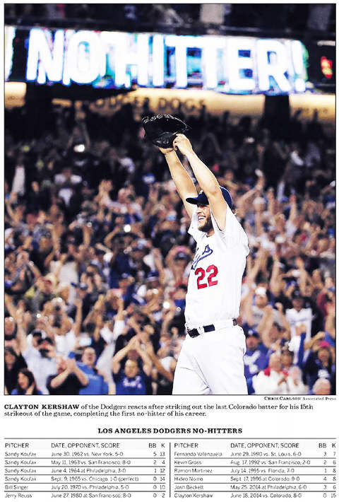 Clayton Kershaw No-Hitter