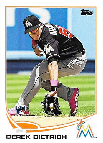 Derek Dietrich Rookie Baseball Card