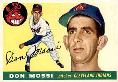 Don Mossi Rookie Baseball Card