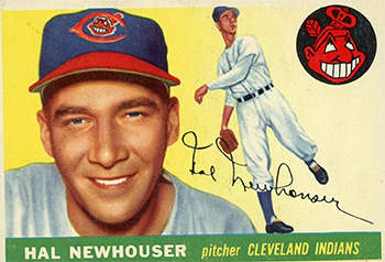 Hal Newhouser Baseball Card with Cleveland Indians