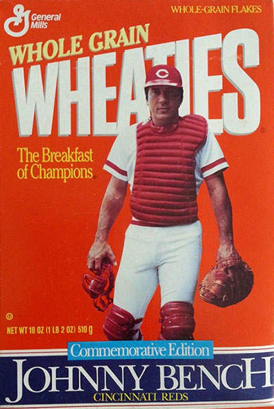 Johnny Bench Wheaties Box