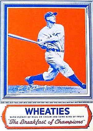 Lou Gehrig 1934 Wheaties Box
