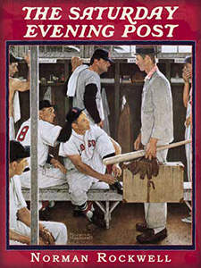 Norman Rockwell, The Rookie, Saturday Evening Post