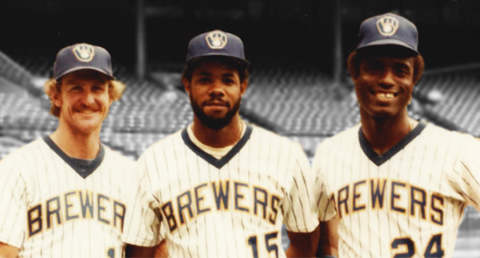 Ben Oglivie, Robin Yount and Cecil Cooper