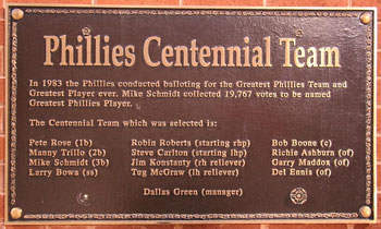 Phillies Centennial Team