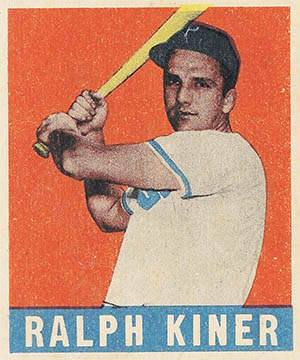 Ralph Kiner Rookie Baseball Card