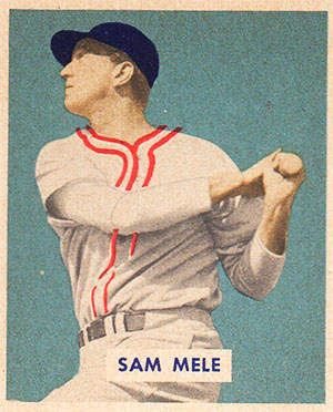 Sam Mele Baseball Card