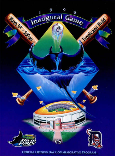Tampa Bay Devil Rays First Game Program