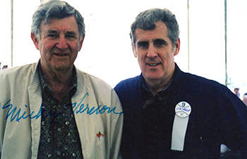 Mickey Vernon Photograph with Jim Sargent