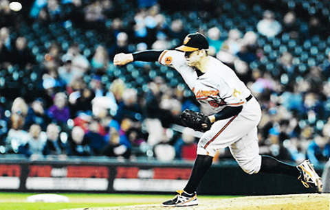 Zach Clark Baltimore Orioles Photograph