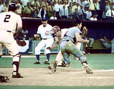 Jim Hickman, Pete Rose, Ray Fosse, 1970 All-Star Game