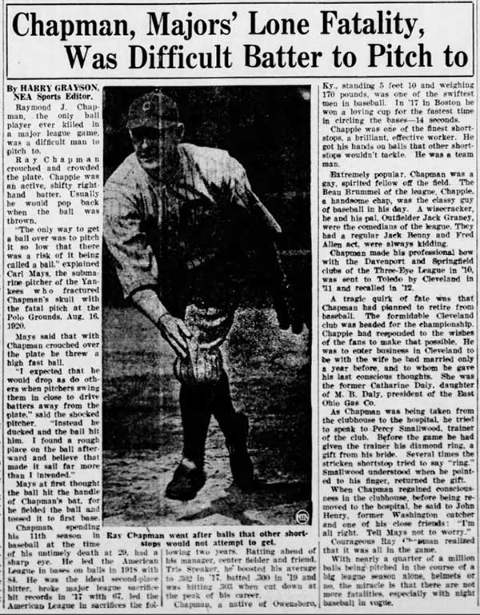 Ray Chapman Death