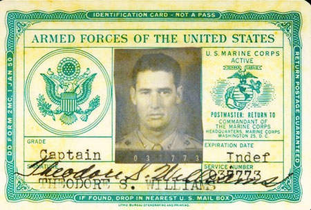 Ted Williams Identification Card