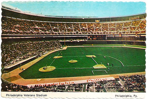 Veterans Stadium Postcard
