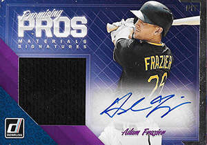 Adam Frazier Autograph on a 2018 Panini Promising Pros Baseball Card (#PPMS-AF)