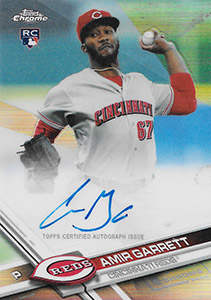 Amir Garrett Autograph on a 2017 Topps Chrome Baseball Card (#RA-AG)