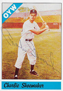 Charlie Shoemaker Autograph on a 1983 One-Year Winners Baseball Card (#89)