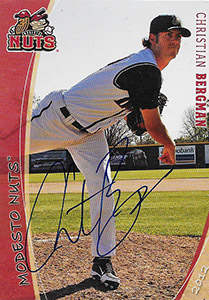Christian Bergman Autograph on a 2012 Grandstand Baseball Card (#34)
