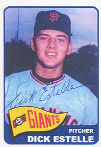 Dick Estelle Autograph on a 1965 ACEO Art Baseball Card (NN)