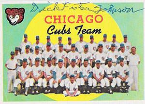 Footer Johnson Autograph on a 1959 Topps Baseball Card (#304 | <a href='../baseball_cards/baseball_cards_oneset.php?s=1959top01' title='1959 TOPPS BASEBALL CARD CHECKLIST'>Checklist</a>)